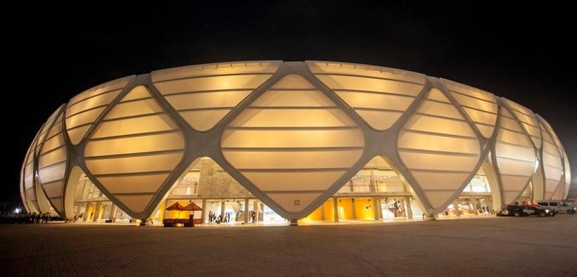 Foto noturna da Arena da Amazônia