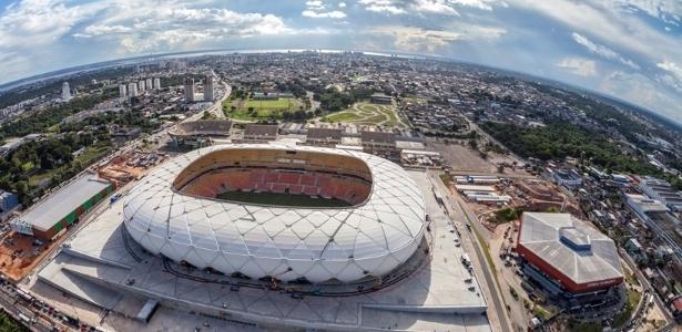 A Arena Amazônia recebe, em média, menos de um jogo de futebol por mês - Portal da Copa