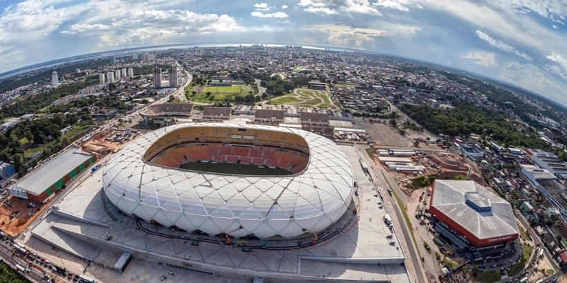 Foto aérea da Arena da Amazônia