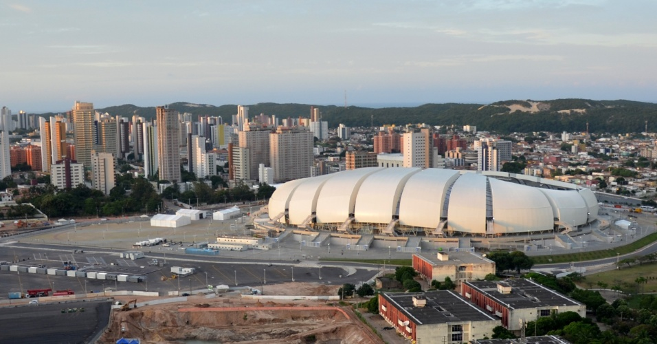 Foto aérea da Arena das Dunas