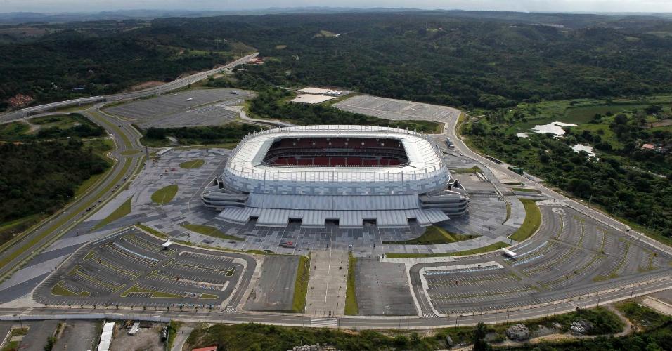 Foto aérea da Arena Pernambuco