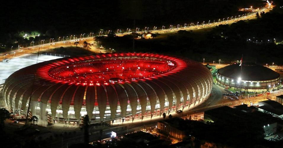 Foto aérea do Beira-Rio