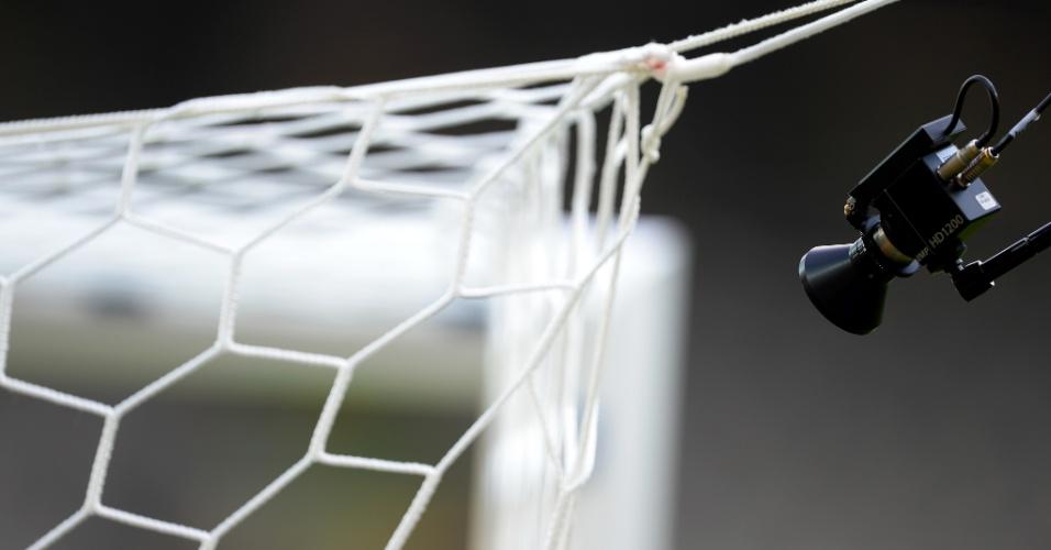 Mineirão: detalhe da câmera do gol