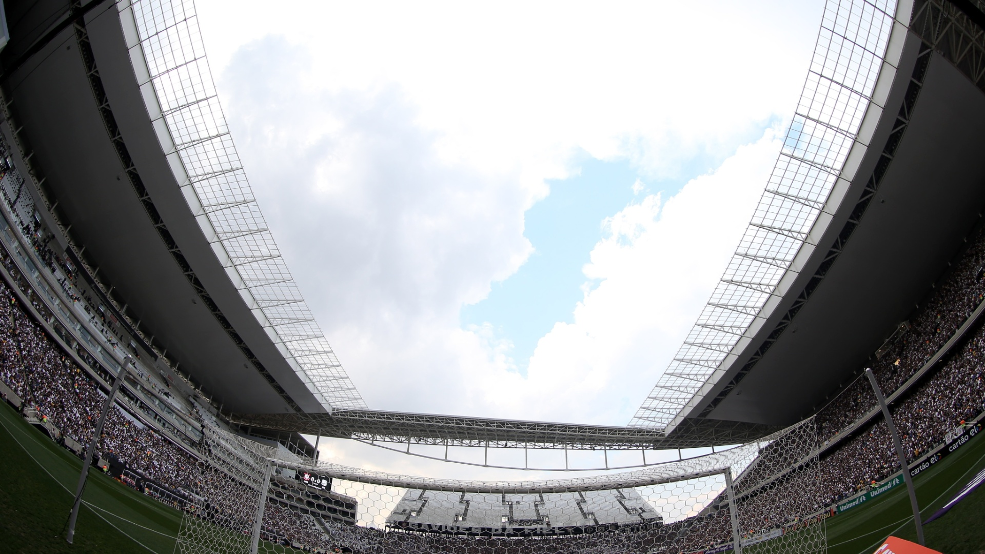 Visão atrás do gol no Itaquerão