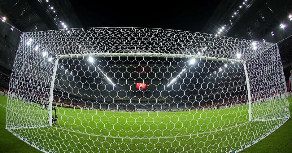 Vista atrás do gol na Arena da Baixada