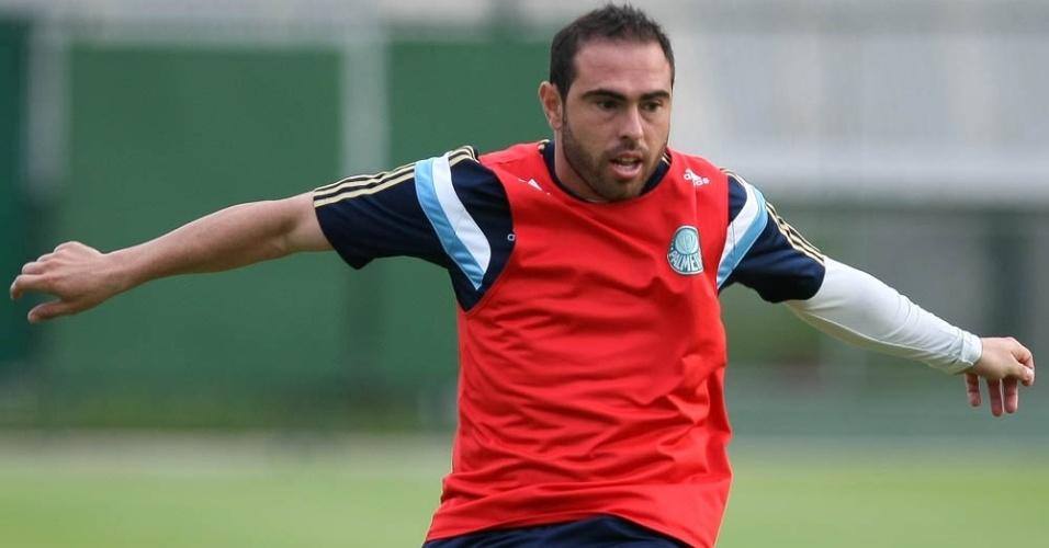 10-04-2014 - Bruno César participa de treinamento no Palmeiras