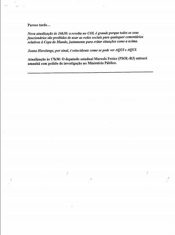 Documentos contra Joana Havelange