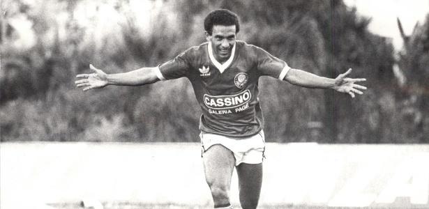 Francisco Ernandi Lima da Silva, o Mirandinha, durante jogo pelo Palmeiras em 1986