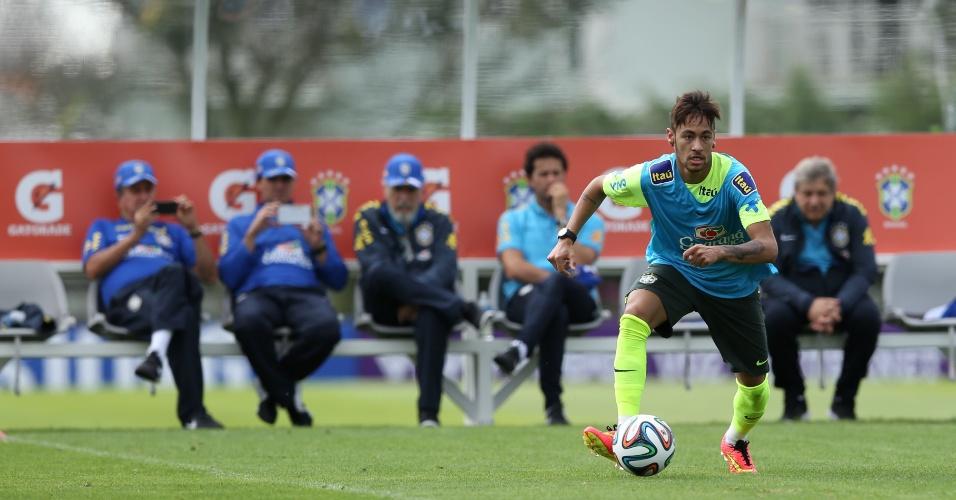 Seleção brasileira, de Neymar, realizou segundo treino com bola na semana, na Granja Comary