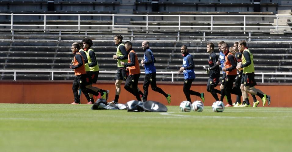 Seleção da Bélgica faz sessão de treinamento em Estocolmo