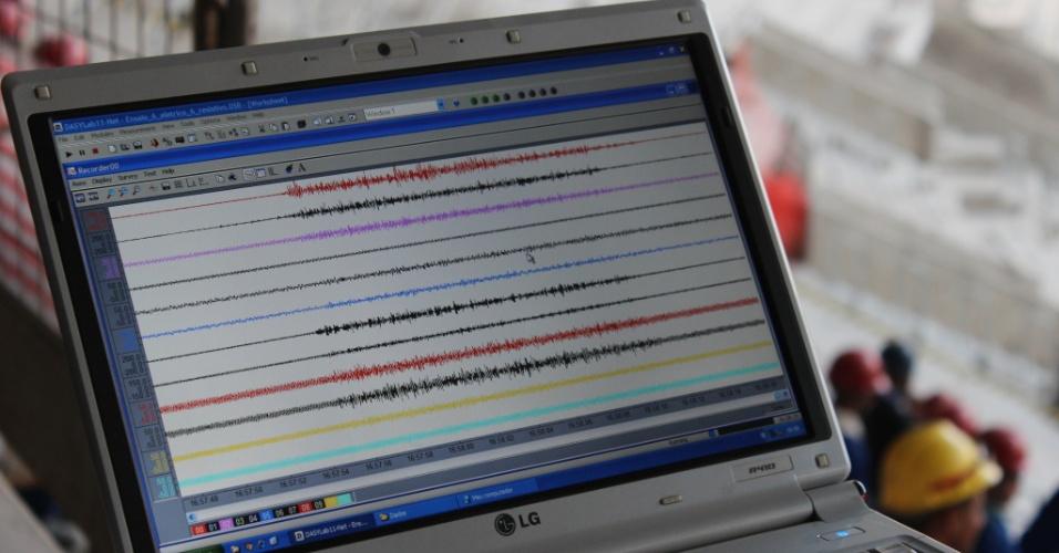 Técnicos da empresa acompanharam a movimentação em tempo real e tudo ficou armazenado em computadores e equipamentos de monitoramento.