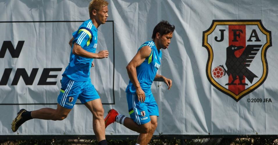 Seleção japonesa se prepara para a Copa do Mundo nos Estados Unidos