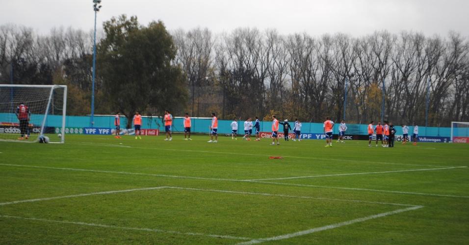 A equipe de Alejandro Sabella treina no campo de Ezeiza, no sexto dia de preparação para a Copa do Mundo