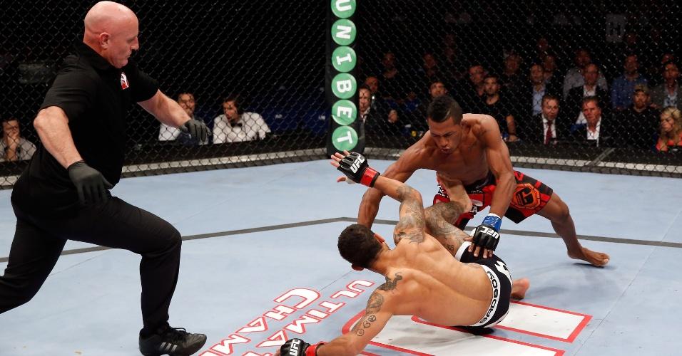 Iuri Marajó parte para cima de Lee para definir a vitória no UFC Berlim