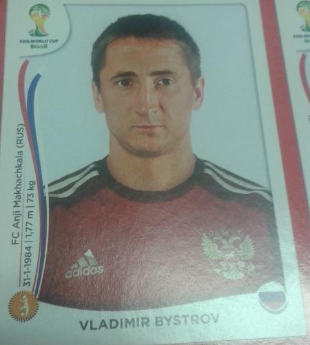 Bystrov foi cortado da lista final de 23 da Rússia pelo técnico Fabio Capello