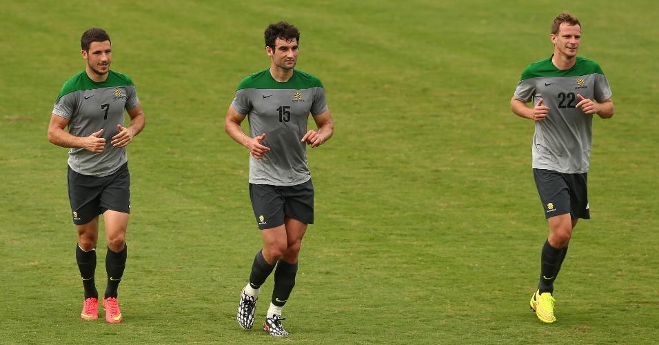 Jogadores da Austrália se preparam para a Copa do Mundo em Cariacica