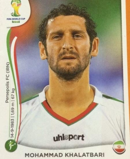 O atacante iraniano Khalatbari não agradou ao técnico português Carlos Queiróz e foi cortado
