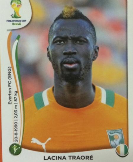 O atacante Traoré, com seu moicano descolorido, foi cortado da lista final marfinense