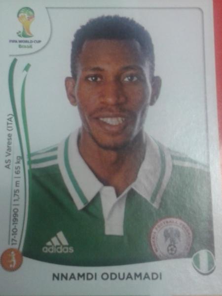 Oduamadi foi cortado da lista final por opção do técnico nigeriano Stephen Keshi