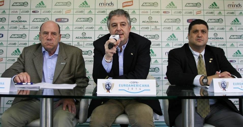 02-06-2013 - José Carlos Brunoro e Paulo Nobre, dirigentes do Palmeiras