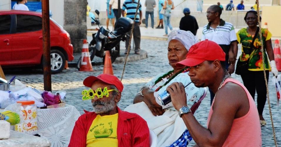 A irreverência faz parte da personalidade dos ambulantes de Salvador
