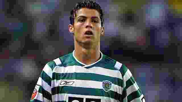 Cristiano Ronaldo na época quando defendia o Sporting - Reprodução