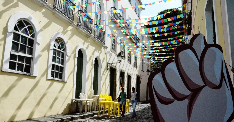 Durante a Copa do Mundo, a superstição também está a postos em Salvador
