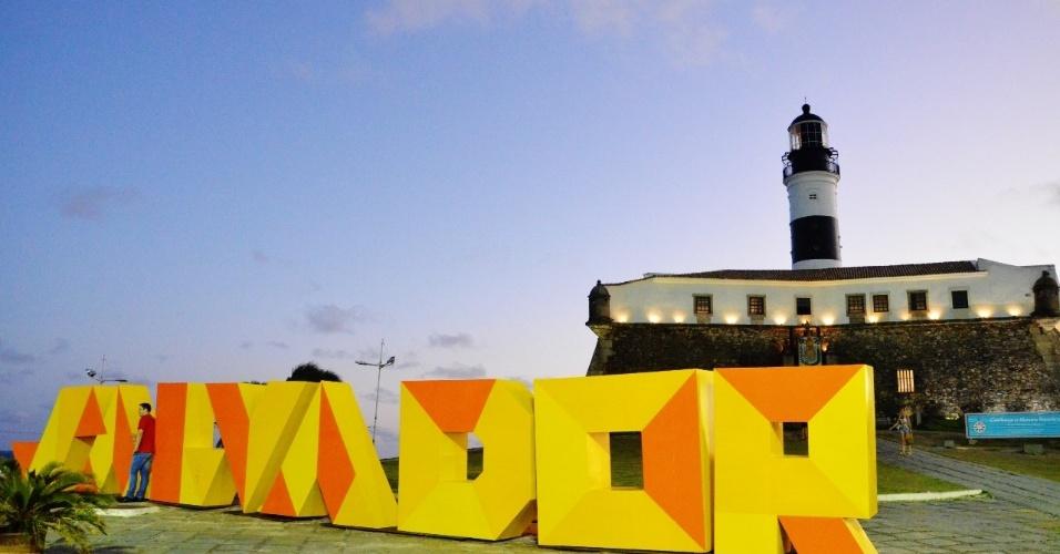 O Farol da Barra é o local escolhido para a Fan Fest de Salvador