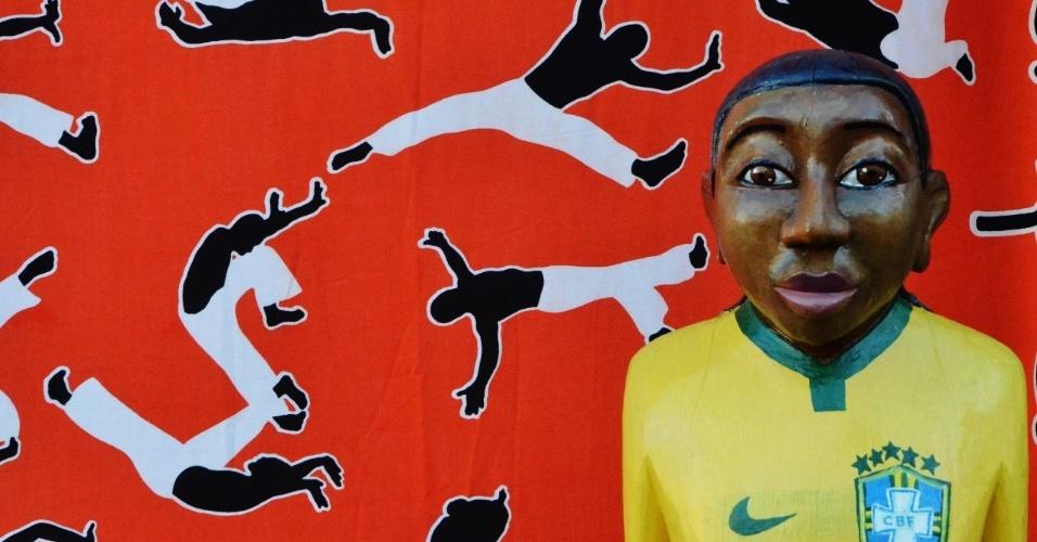 Pelé foi lembrado em um dos ateliês do Pelourinho