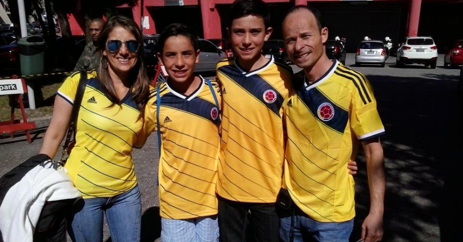 Família de Bogotá conseguiu comprar no Ibirapuera jogos da seleção colombiana para o Mundial