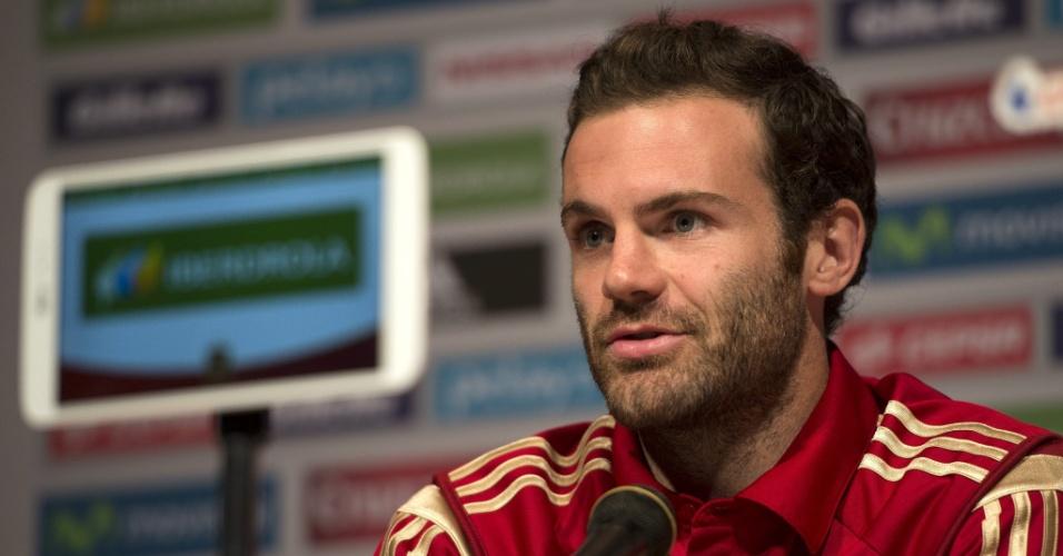 Juan Mata, da Espanha, participa de entrevista coletiva com imprensa em Washington