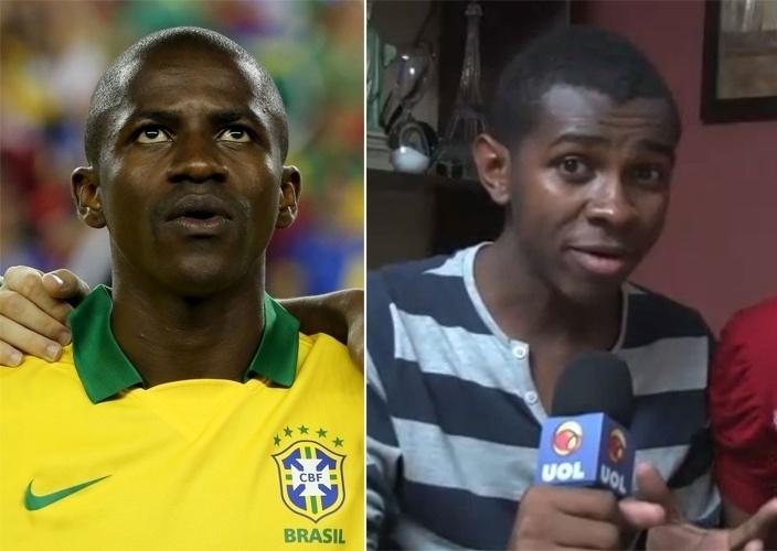 """Ramires, da seleção brasileira, e Jefferson Barbosa, do hit """"Para Nossa Alegria"""""""