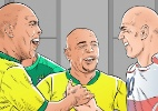 Ronaldo e Roberto Carlos riram com Zidane no vestiário após eliminação em 2006 - Arte UOL
