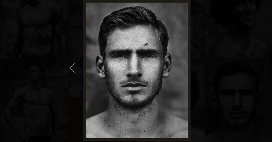 06.jun.2014 - Retrato do zagueiro Jan Vertonghen no ensaio fotográfico da seleção belga, que deu origem ao livro MMXIV