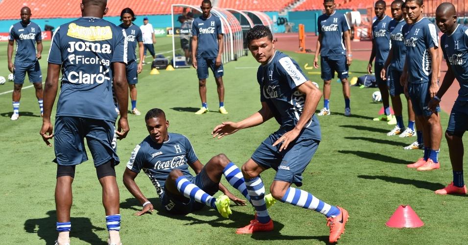 06.jun.2014 - Seleção de Honduras realiza treinamento no estádio Sun Life, em Miami, nos Estados Unidos