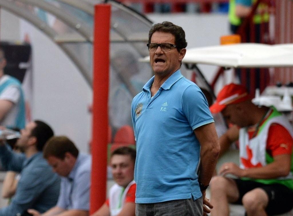 06.jun.2014 - Técnico italiano Fabio Capello comanda a seleção da Rússia durante amistoso contra o Marrocos, em Munique