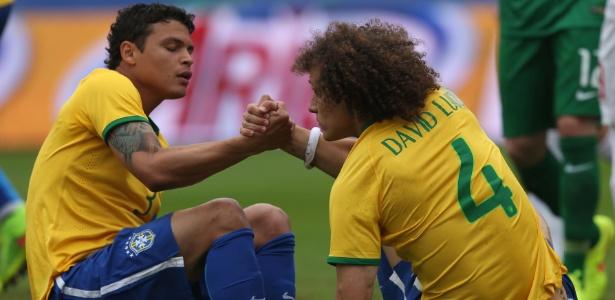 Thiago Silva e David Luiz jogarão juntos no PSG depois da Copa do Mundo