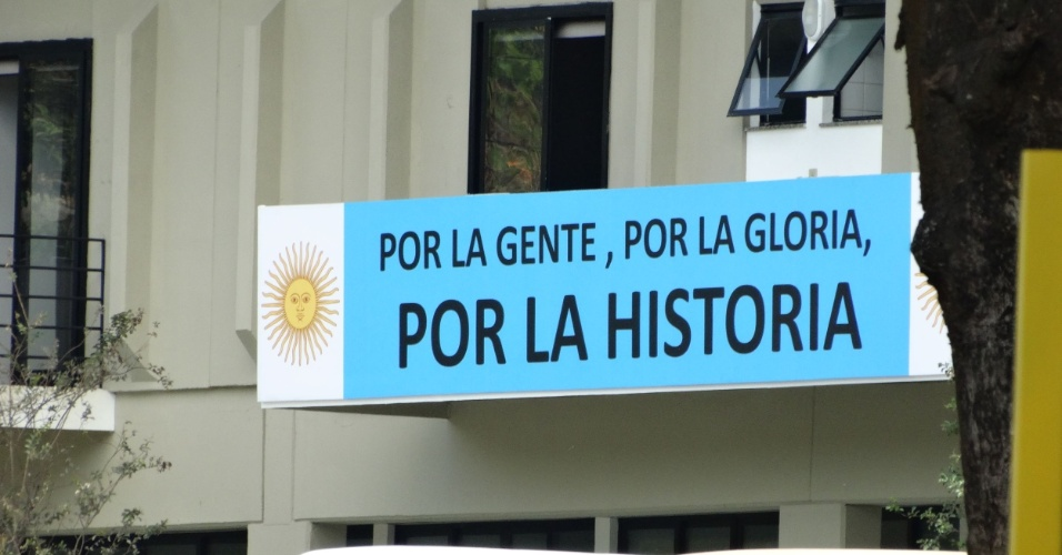 A Argentina chega ao local na próxima segunda-feira, para montar ali seu QG durante a Copa do Mundo