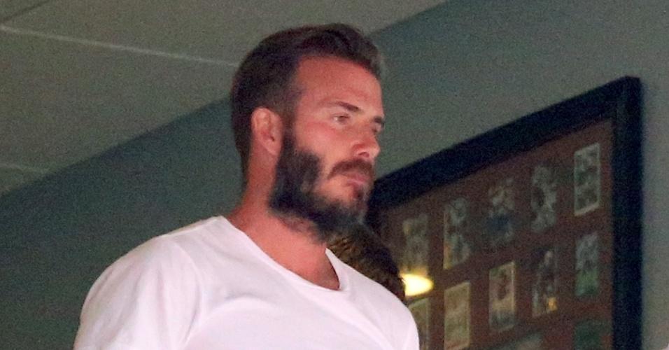 David Beckham comparece ao amistoso da Inglaterra contra Honduras, em Miami