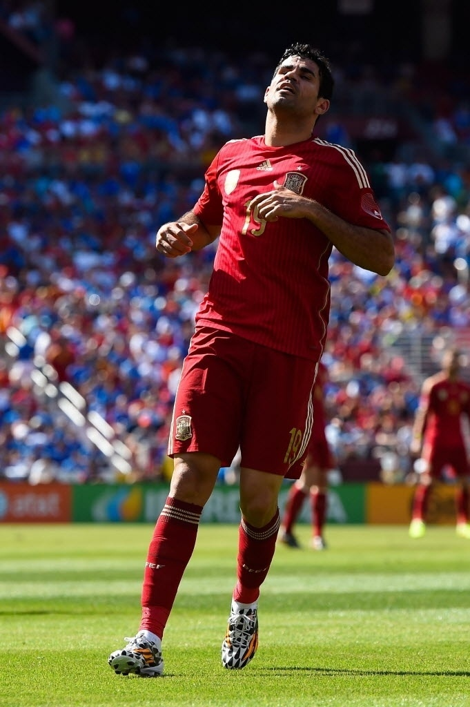 Diego Costa volta a vestir a camisa da Espanha em amistoso contra El Salvador