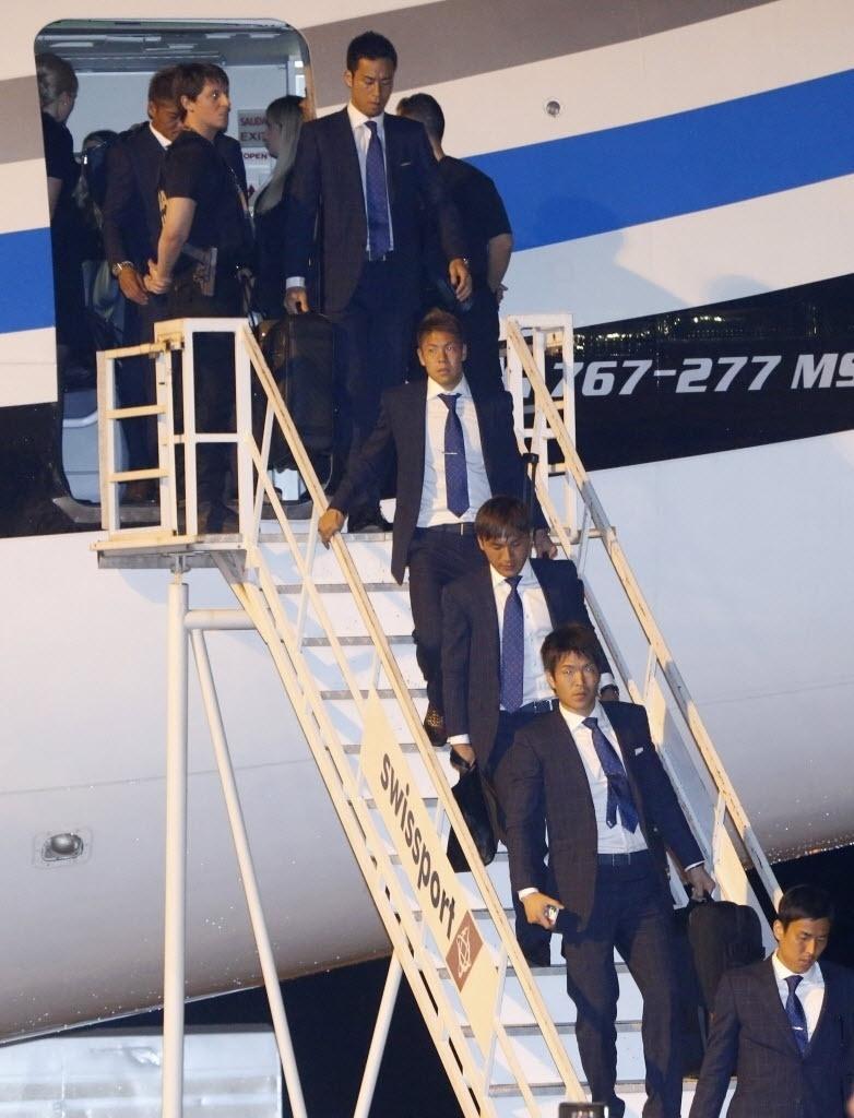 Seleção Japonesa desembarca no Aeroporto de Viracopos, em Campinas