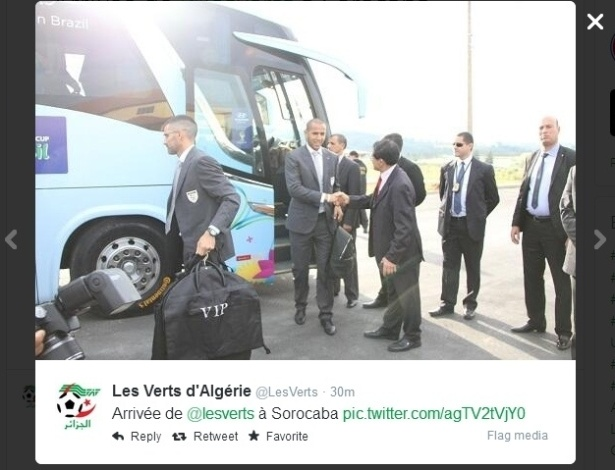 08.jun.2014 - A seleção da Argélia também chegou ao Brasil neste domingo. O time argelino vai ficar hospedado em Sorocaba