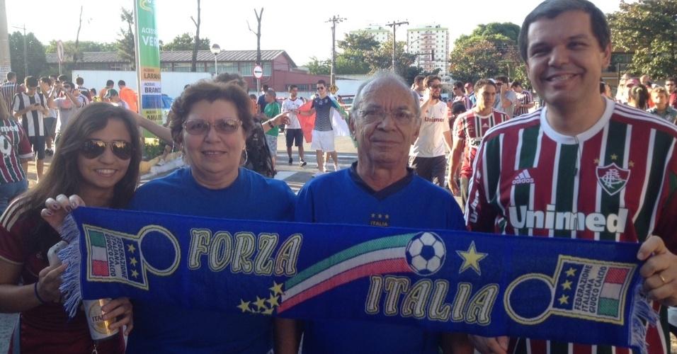Amistoso entre Fluminense e seleção italiana em Volta Redonda reúne torcidas