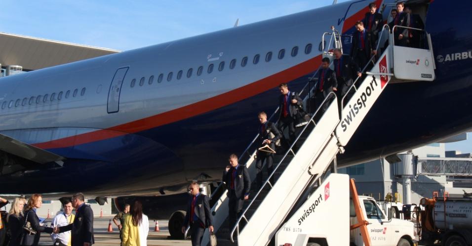 Seleção russa desembarca no brasil nesse domingo