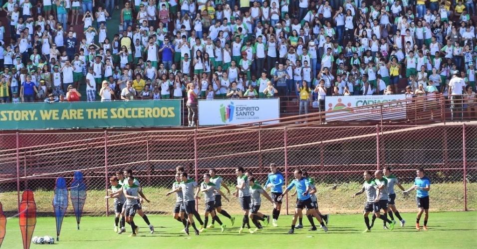 Treino da Austrália foi acompanhado por diversos torcedores em Vitória (ES)