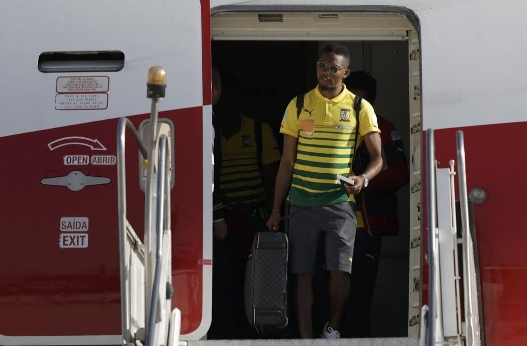 09. jun. 2014 - Camaronês Samuel Eto'o desembarca no Rio de Janeiro para a disputa da Copa do Mundo