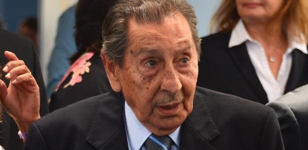 Alcides Ghiggia, ex-atacante do Uruguai e herói da Copa de 1950