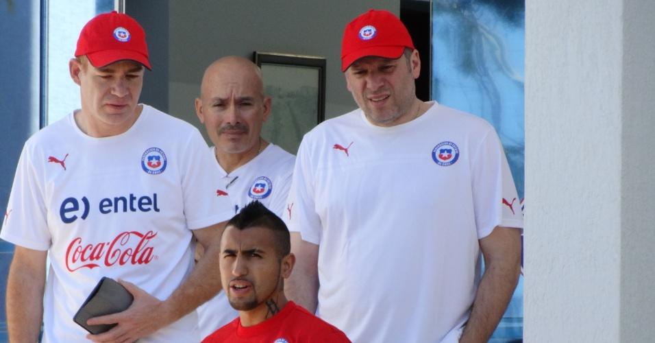 Arturo Vidal não treina com o Chile nesta segunda-feira e mídia chilena especula corte