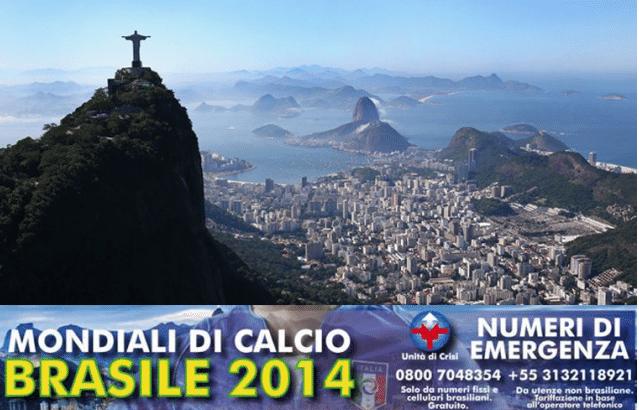 Página do Ministério das Relações Exteriores da Itália com dicas para os turistas que virão à Copa