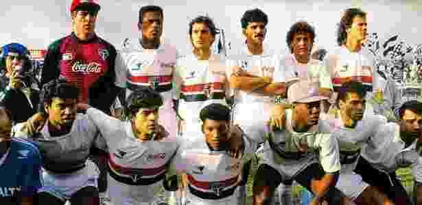 Time de 1991 do São Paulo com Ricardo Rocha e Raí - Nelson Coelho/Divulgação - Nelson Coelho/Divulgação